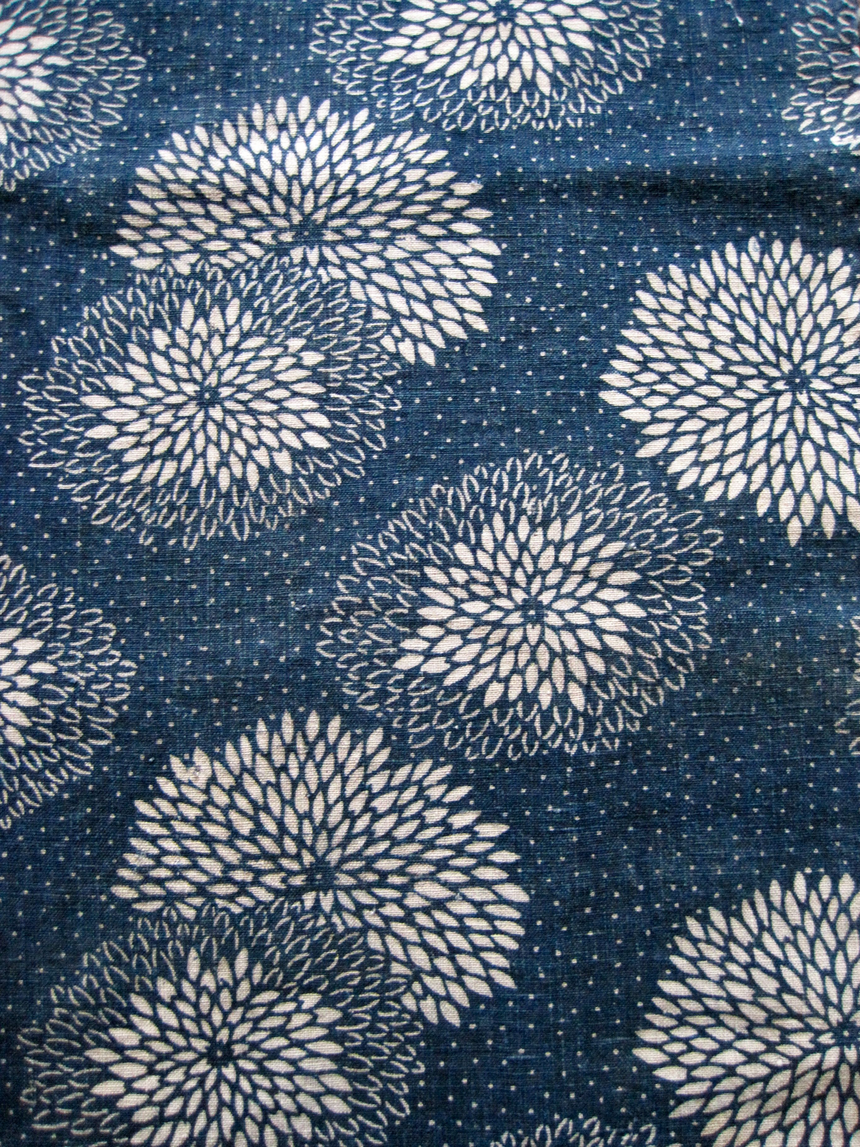Katasome Chrysanthemums Wafuku And Japanese Textiles In
