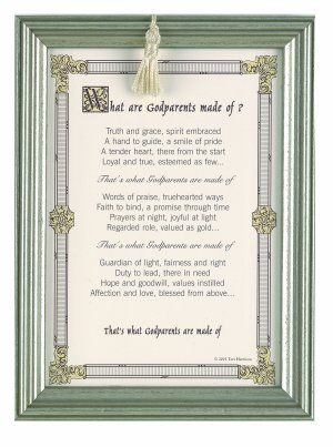 What are Godparents made of 5x7 Frame picture | Isabelle\'s Holy ...