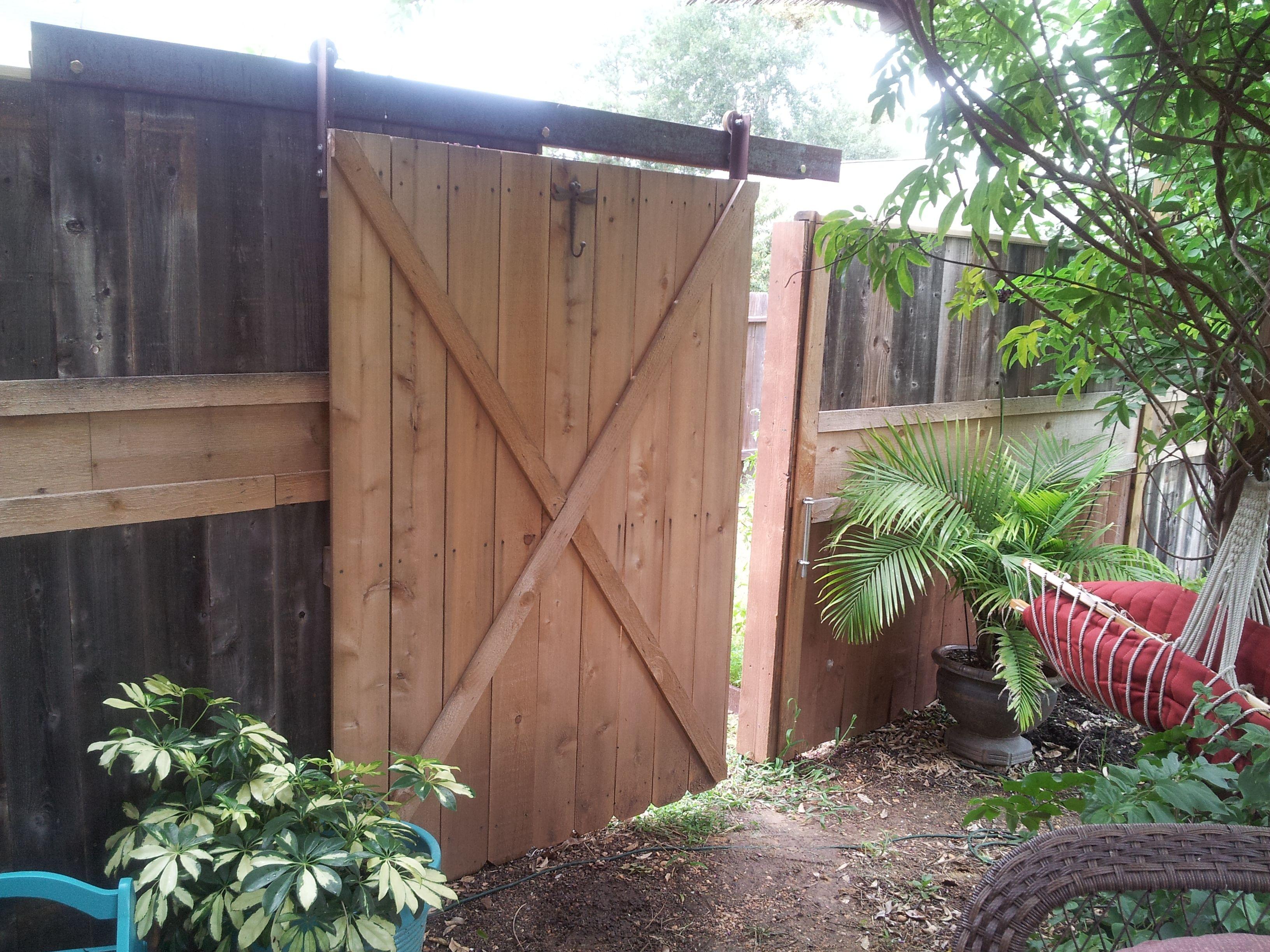 Sliding Gate Backyard Fences Backyard Gates Backyard