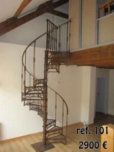 Escalier colima on en fer forg escalier pinterest mezzanine decoratio - Escalier colimacon metal ...