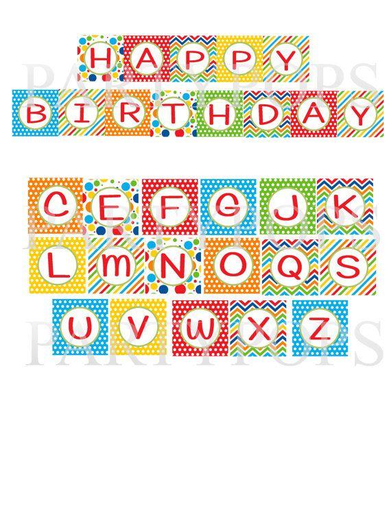 free birthday banner