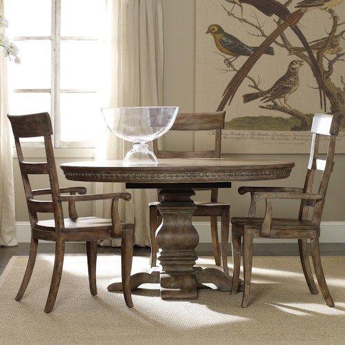 sorella casual dining set with round pedestal table, ladderback, Esstisch ideennn