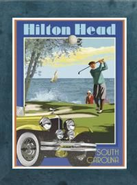 Beach Town Posters, Retro Art Deco and Vintage Posters by Aurelio Grisanty