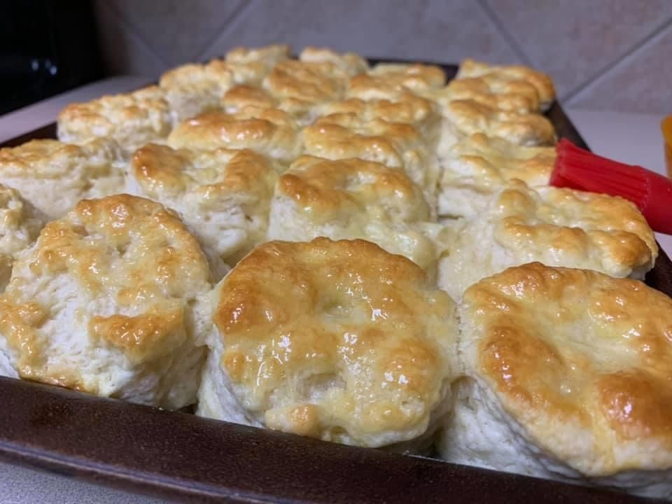 Baron Broussard S Homemade Buttermilk Biscuits 6 Cups All Purpose Flour 1 Lb Butter Frozen 5 In 2020 Buttermilk Biscuits Homemade Buttermilk Biscuits Biscuits