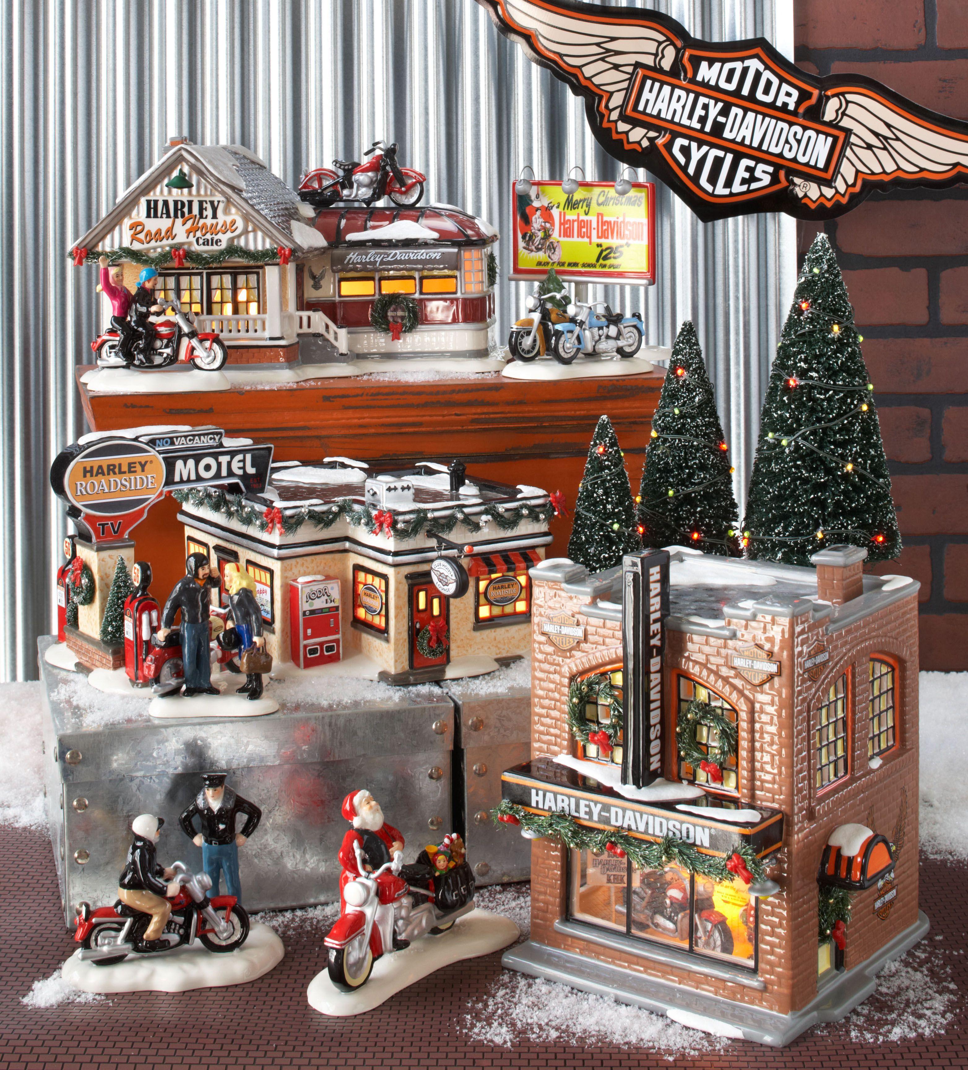 Department 56 Original Snow Village Harley Davidson Collection www ...