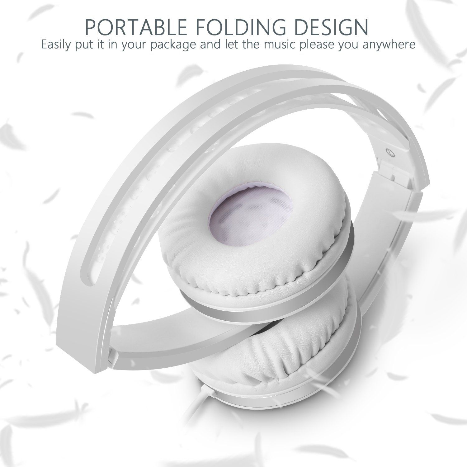 On Ear Headphones With Mic Jelly Comb Foldable Corded Headphones Wired Headsets With Microphone Volume Control In 2020 In Ear Headphones Headphone With Mic Headphones