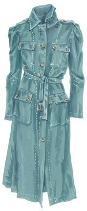 I love this raincoat.  And I love reading J. Peterman descriptions.  They are like mini novellas.