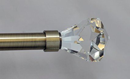 Pierre Cut Crystal Curtain Rods