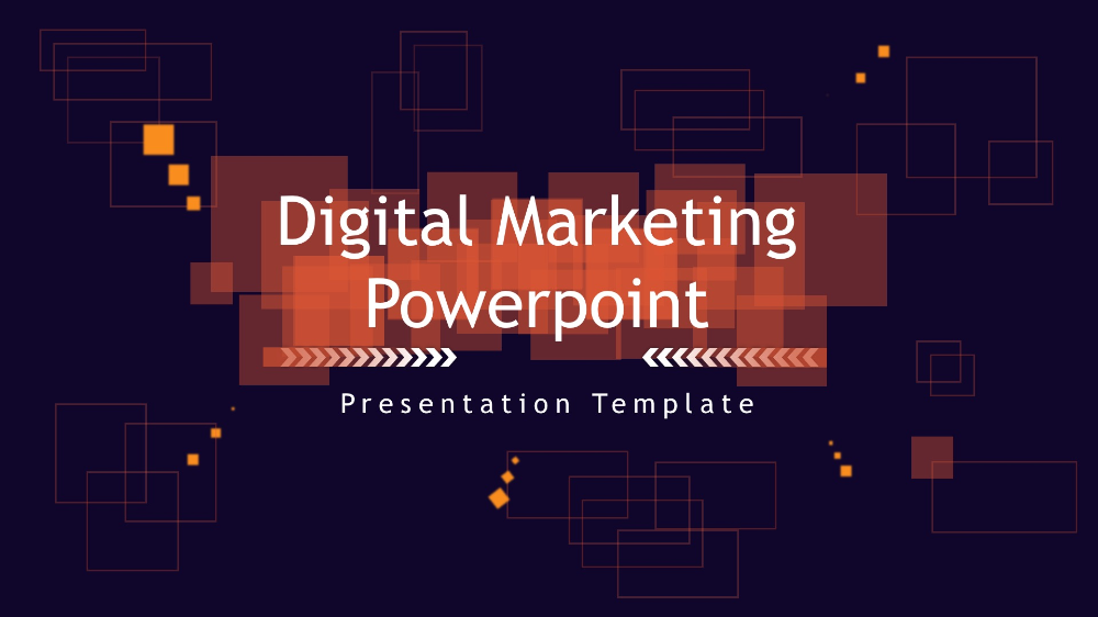 Digital Marketing Powerpoint template - Business, Information Technology, Technology - Templates PPT Presentation