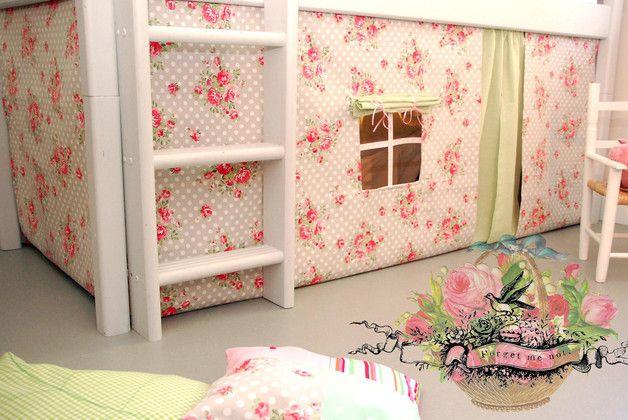 Vorhang Etagenbett Selber Nähen : Vorhang set hochbett fur selber machen