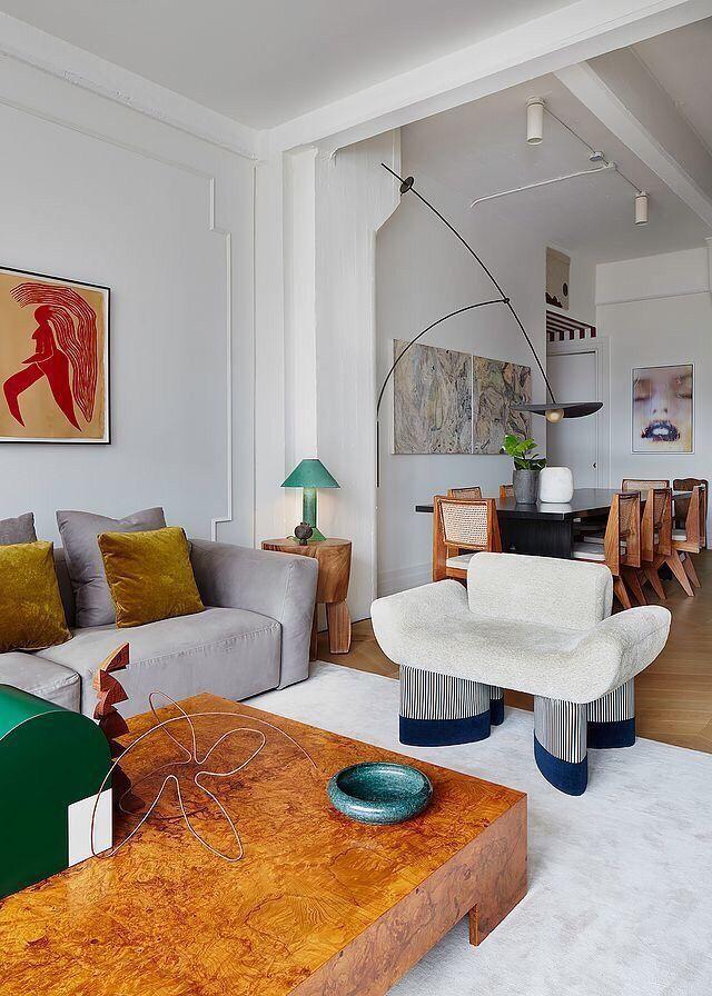 Artsy Living Room Interior House Interior Interior Design