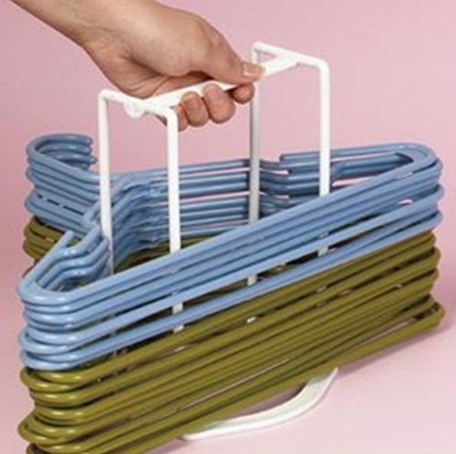 Clothes Hanger Caddy Closet Organizer Storage Holder Laundry Room Or Laundrymat Ebay