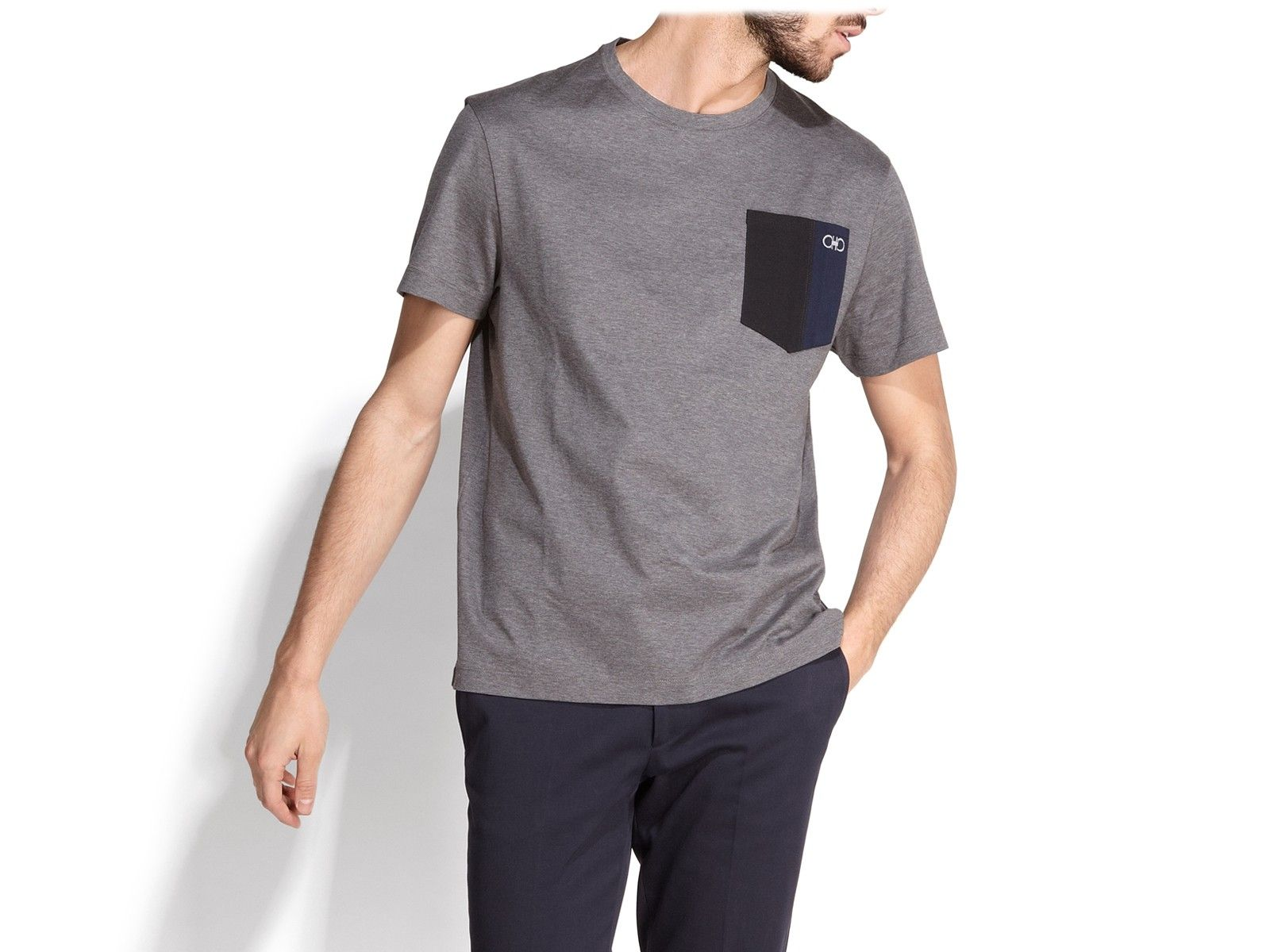 9606c7ddc6bf SALVATORE FERRAGAMO Pocket T-Shirt.  salvatoreferragamo  cloth ...
