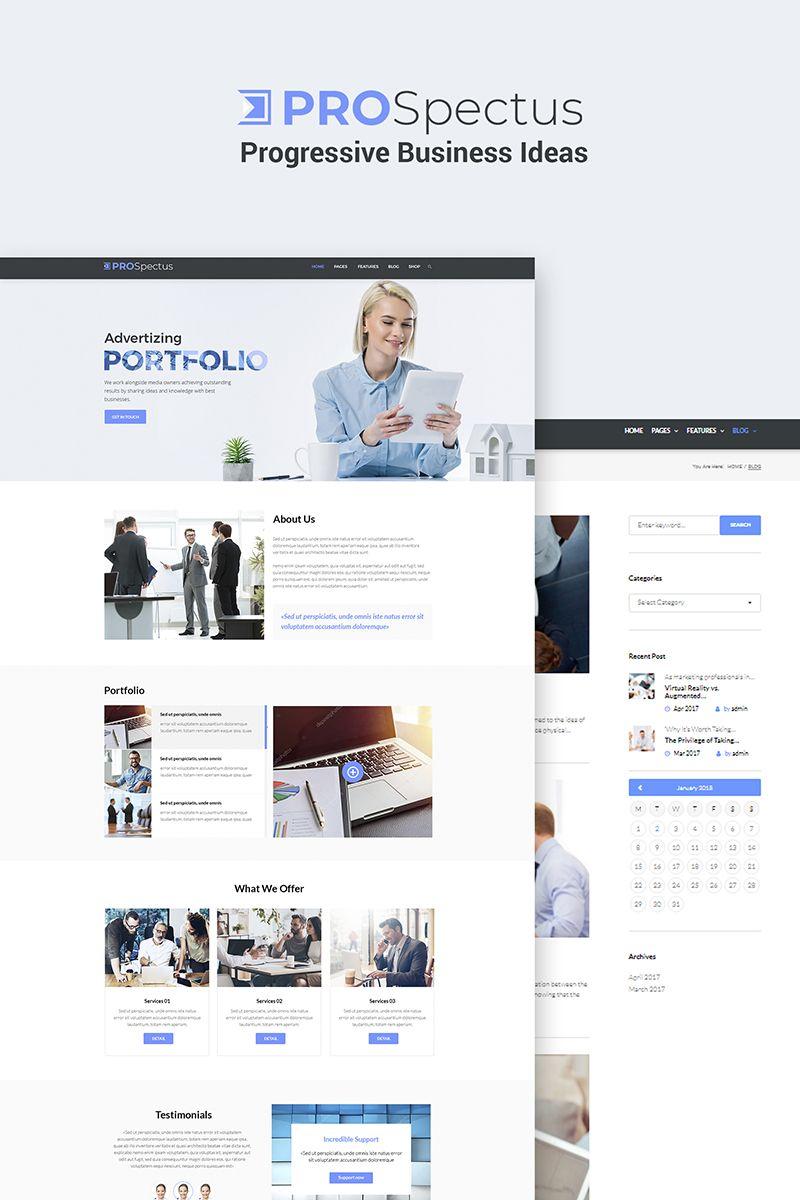 Prospectus advertising portfolio wordpress theme website wordpress theme prospectus advertising portfolio flashek Image collections