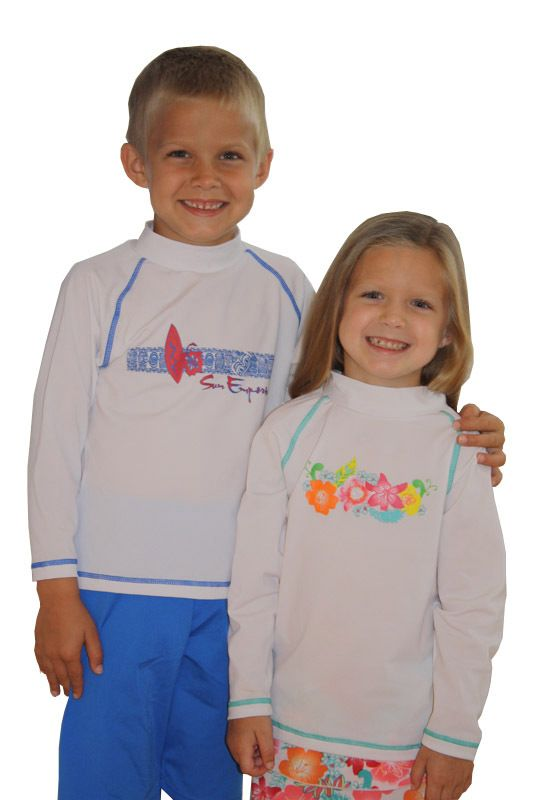 4ed8eded Girl Long Sleeve Rash Guard Swim Shirt - sizes 4-14 | sun protection ...