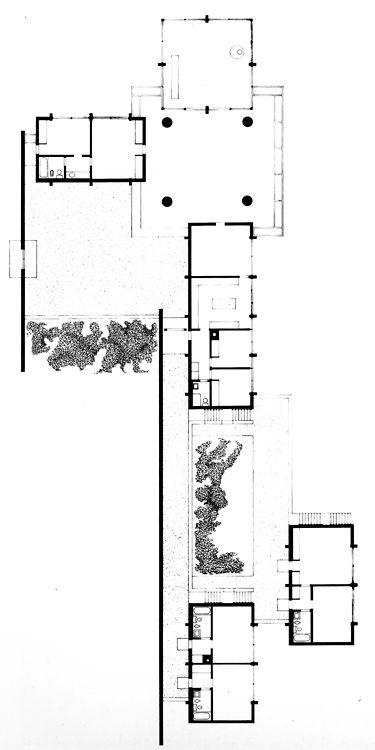 Philip Johnson, Eric Boissonnas House II, Plan, Cap Benat