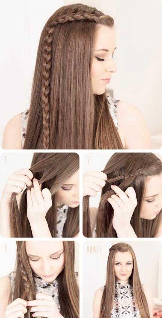 flechtfrisuren fur lange haare frisuren frisuren pinterest