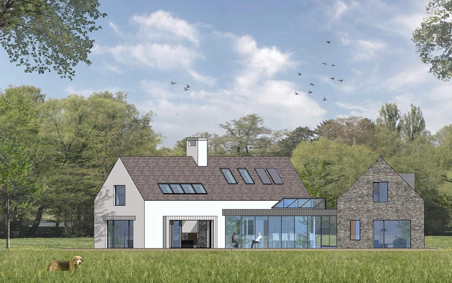 Contemporary 4 bedroom irish countryside dwelling house designs ireland bungalow exterior 4 bedroom