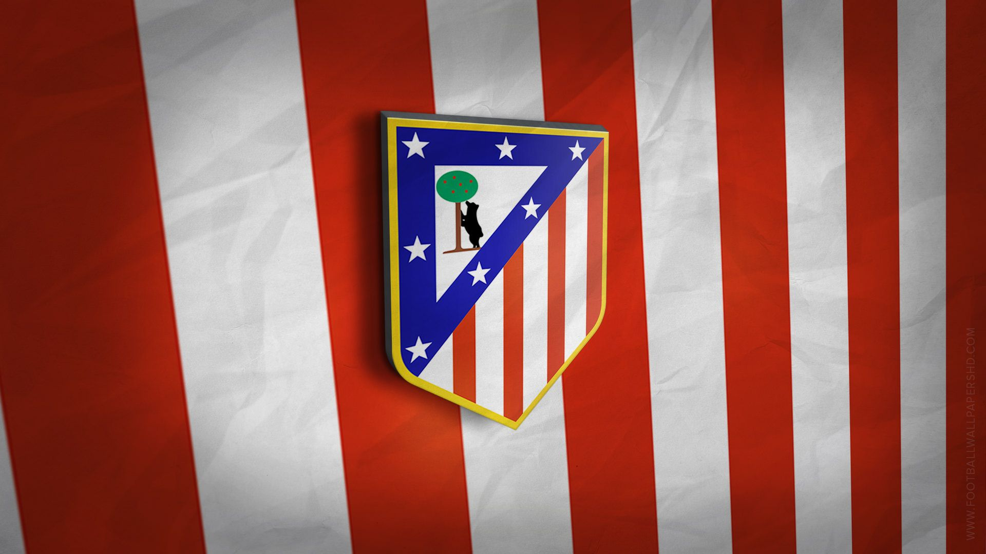Atletico Madrid 3D Logo Wallpaper | Atletico Madrid