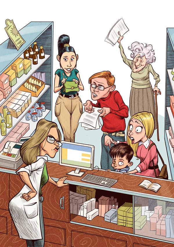 A bothersome day at the drugstore on Behance
