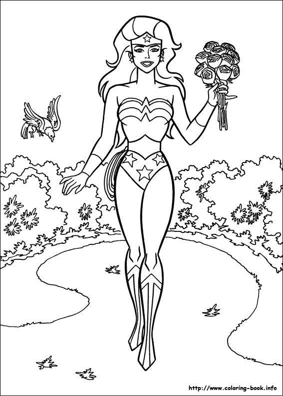Wonder Woman coloring picture Wonder woman birthday party