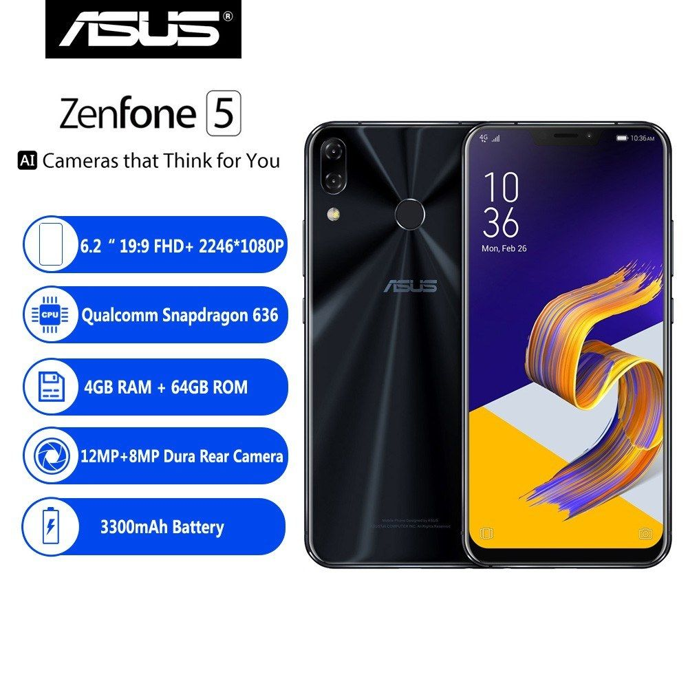 Global Version】ASUS Zenfone 5 ZE620KL 4G Smartphone Notch
