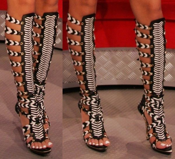 gladiator sandals knee high heels