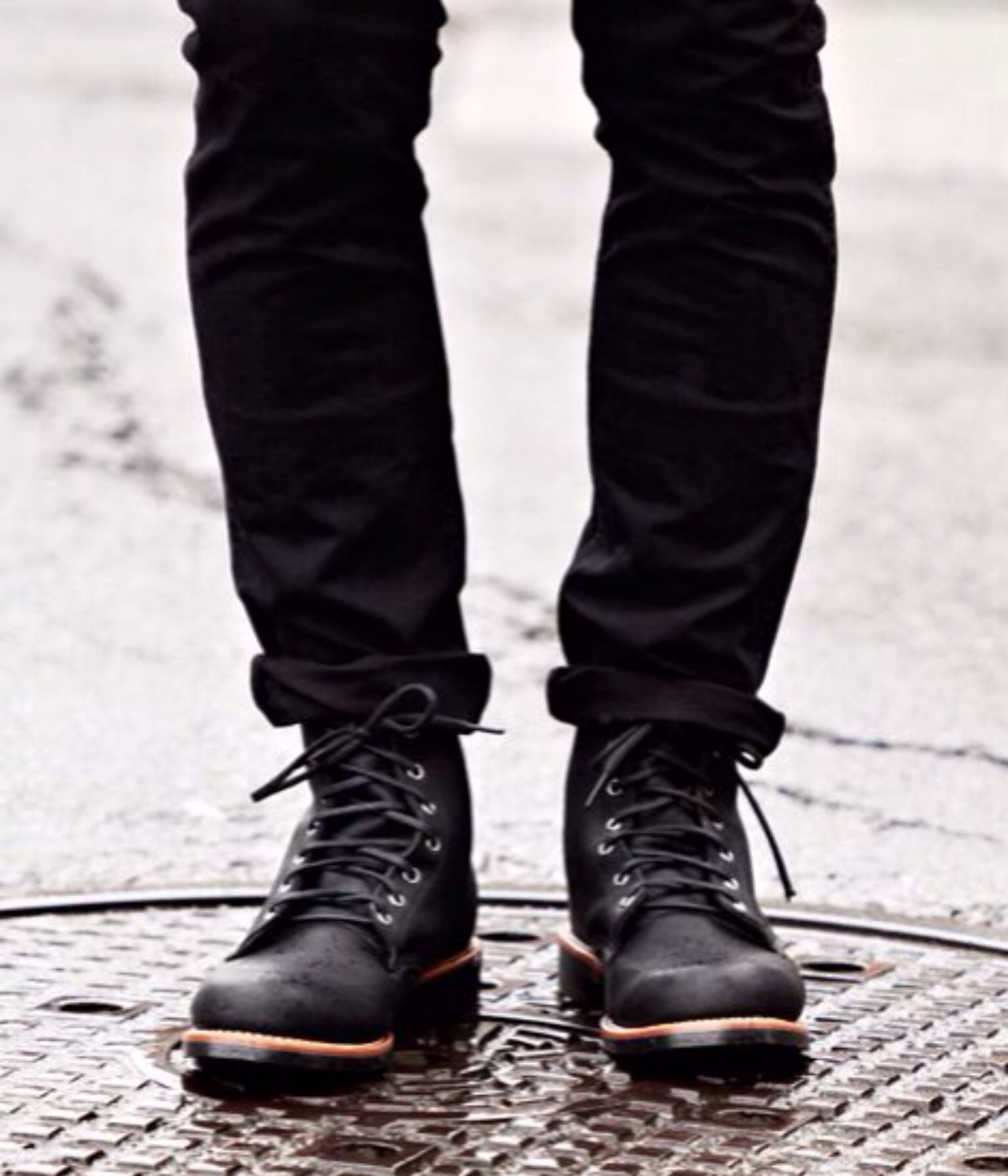 Black Red Wing Beckman My Style Chippewa Boots