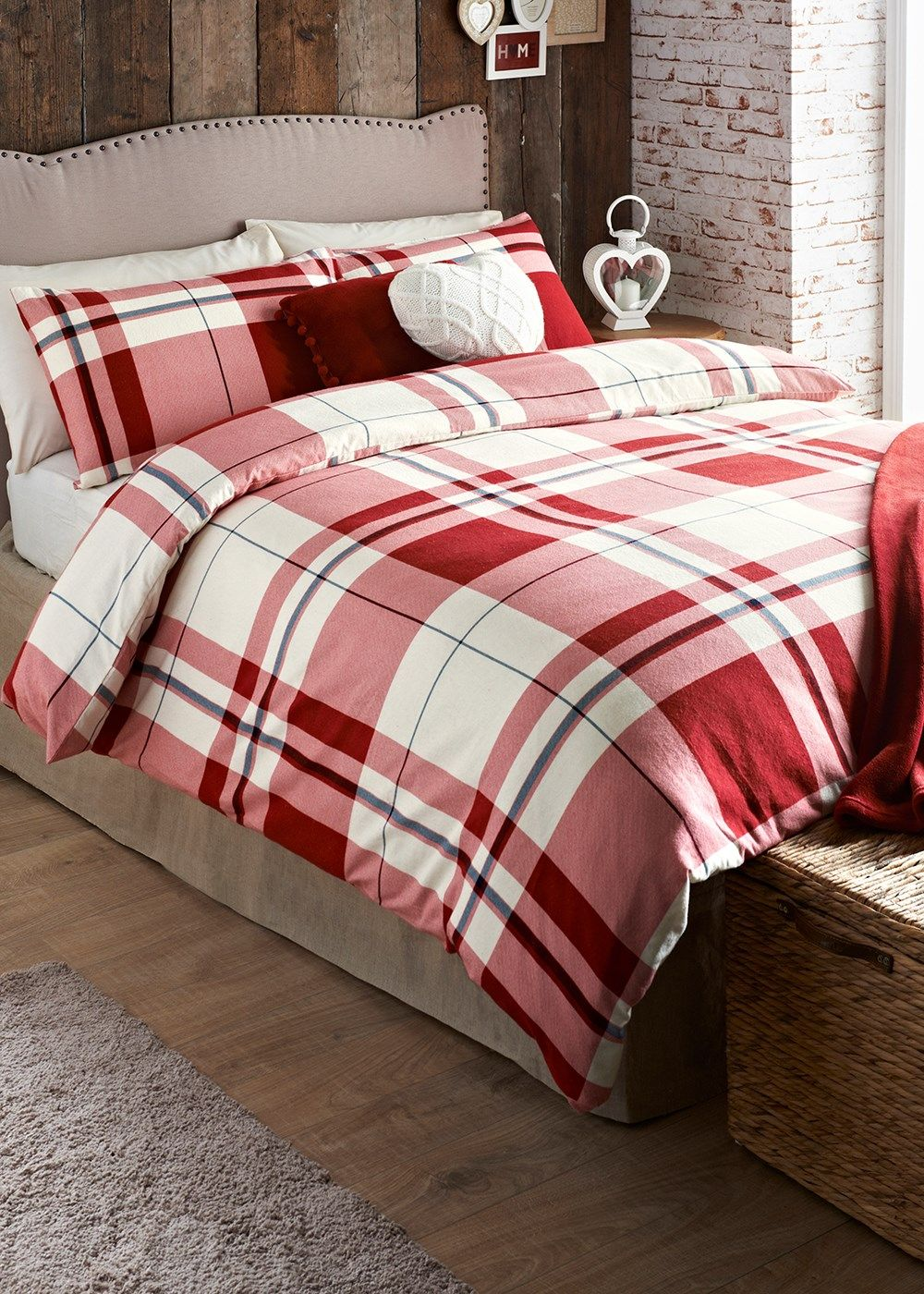 Heritage Check Print Brushed Cotton Bedding Set Matalan Bedroom - Matalan bedroom furniture