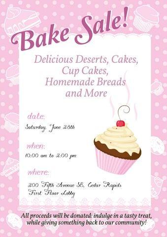 Bake Sale Sign Template | Brianna's bake goods | Pinterest | Bake ...