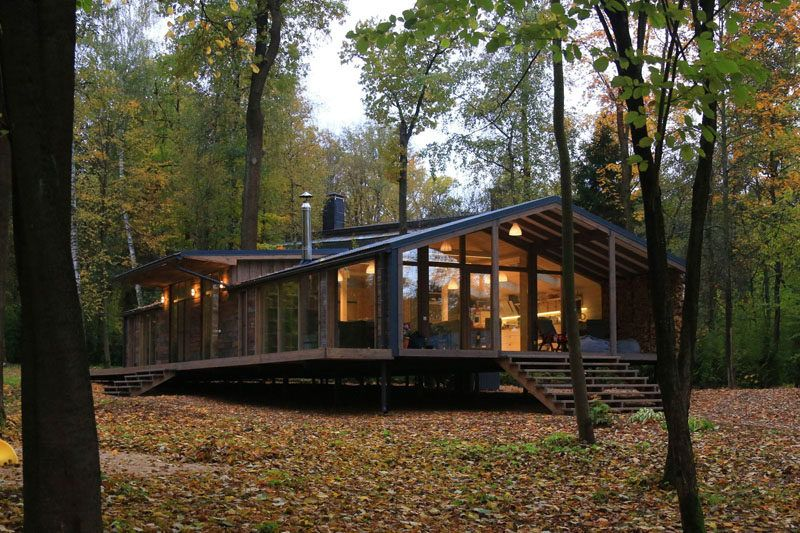 This Rustic Modern House In The Forest Was Designed For A Family
