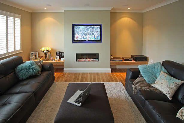 Twee banken tegenover elkaar ipv hoekbank zou een optie kunnen zijn woonkamer pinterest tv - Woonkamer banken ...