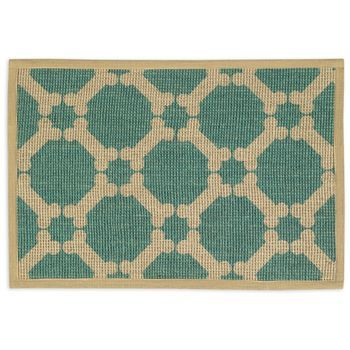 "Natural Jute Placemats 13""""""""X19""""""""-Teal"