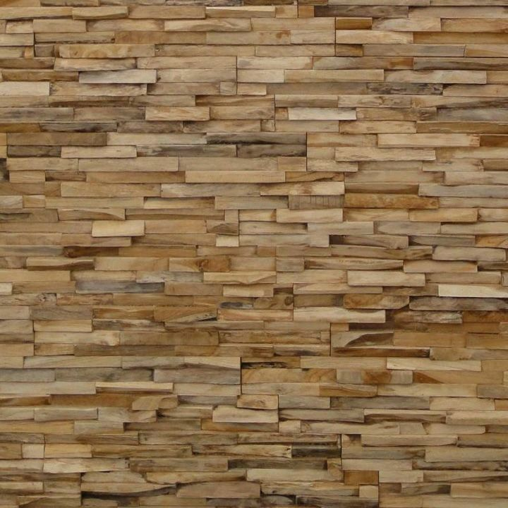 Pared recubierta de madera para hacerlas Pinterest Stone