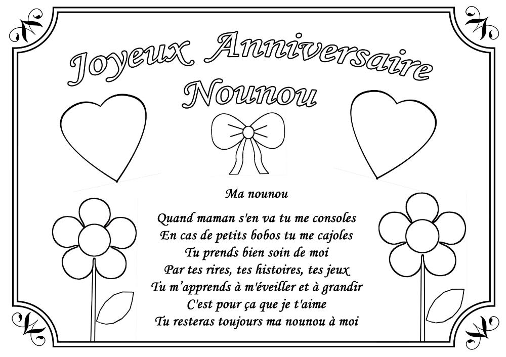 Coloriage D Anniversaire Pour Marraine Beautiful Dessin Colorier Joyeux Anniversaire Mamie Imprimer