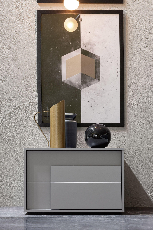 Novamobili nachttisch overlap schubladen in furniture