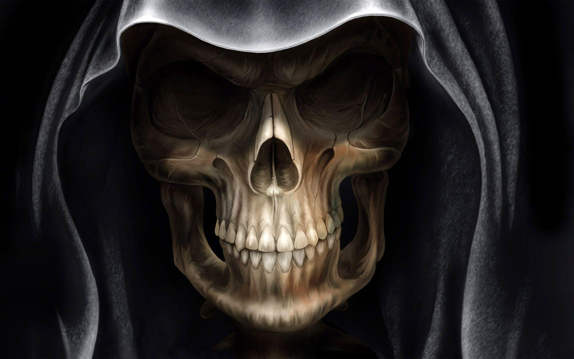 Hooded Skull Charon Skull Wallpaper 4k Wallpaper For Mobile Alien Skull Devil hd wallpaper for mobile