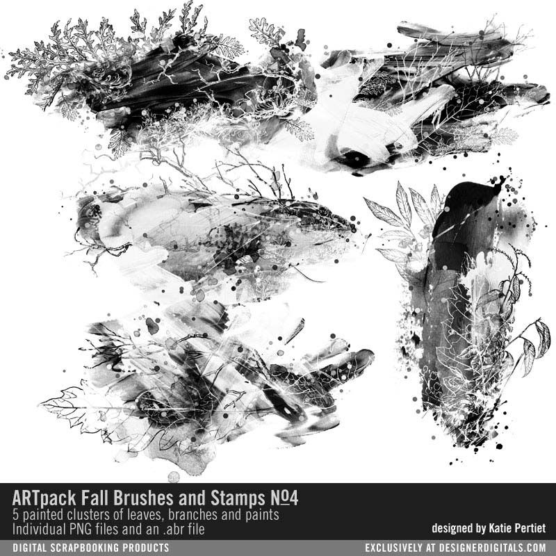 ARTpack Fall Brushes and Stamps No. 04 artsy clusters of
