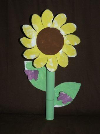 Sur le th me de l 39 automne activit manuelle pour enfant avec cette grande fleur de trounesol - Activite manuelle fleur ...