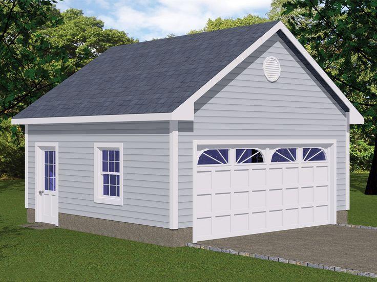 078G0001 TwoCar Garage Plan; 20'x20' Garage door