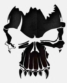 Pin by Jennifer Blakeney on Cricut in 2019 | Skull stencil, Skull