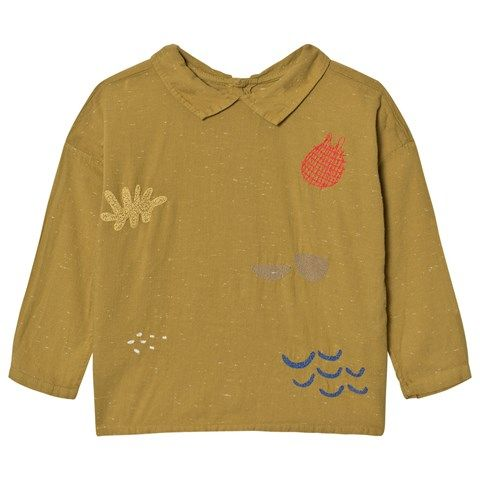 Bobo Choses Mustard Sea Junk Embroidered Blouse ca8021d315a5f