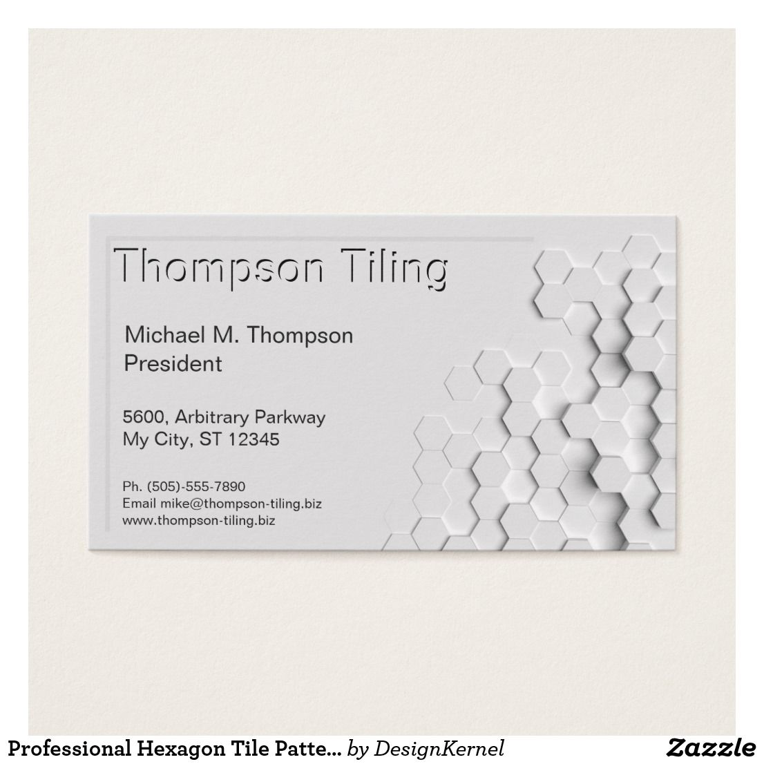 Professional Hexagon Tile Pattern Elegant Modern Business Card Zazzle Com In 2021 Modern Business Cards Simple Business Cards Hexagon Tile Pattern