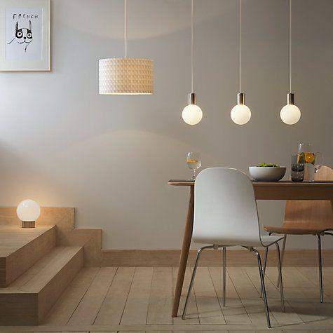 Buy house by john lewis globe 3 bar pendant light chrome white from our ceiling lighting range at john lewis