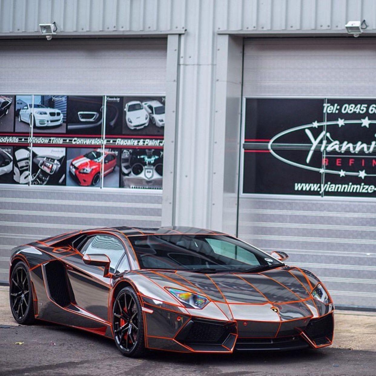 Lamborghini Aventador Coupe painted in Arancio Atlas It s wrapped