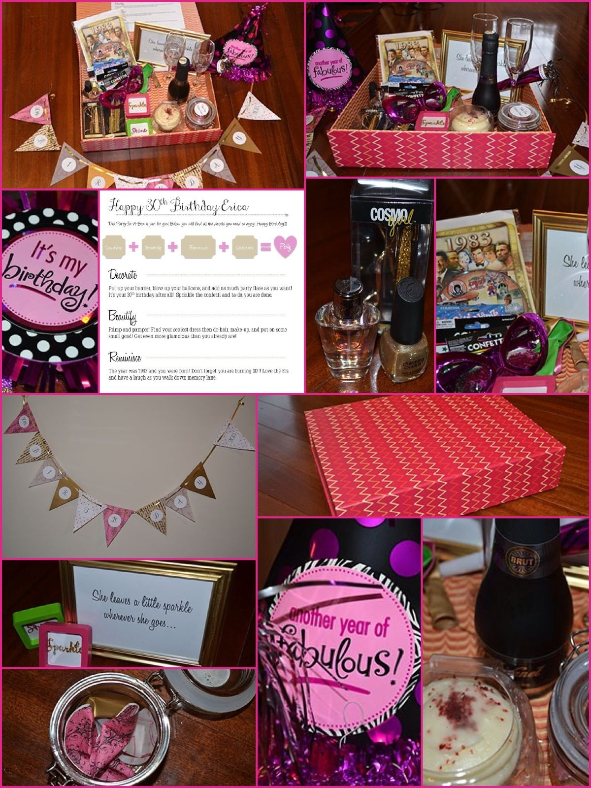 Party In A Box 30th Birthday Gift Idea For Those Far Away DIY