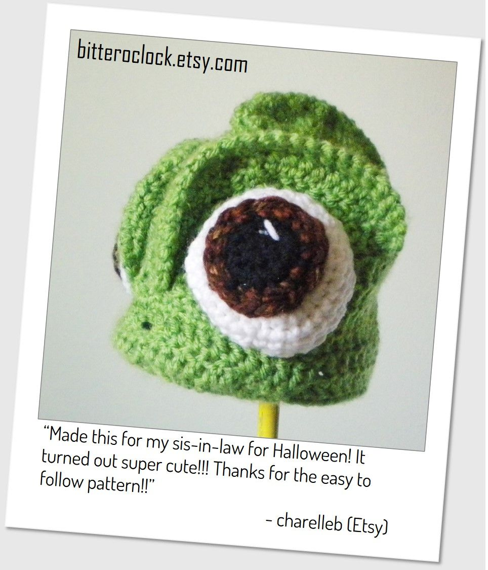 Crochet Pascal the Chameleon Hat - Crochet Pattern | Customers and ...