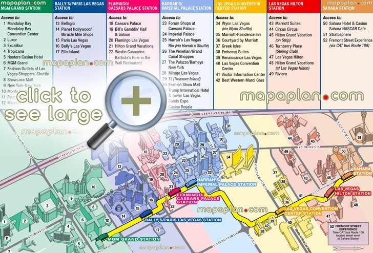Four Seasons Las Vegas Map.Monorail Stations Boulevard Hotels Luxor Pyramid Shuttle Showcase