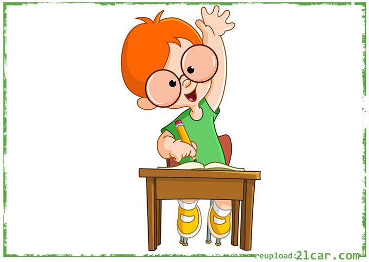 Gambar Kartun Anak Sekolah Laki-Laki Kacamata | Anak ...