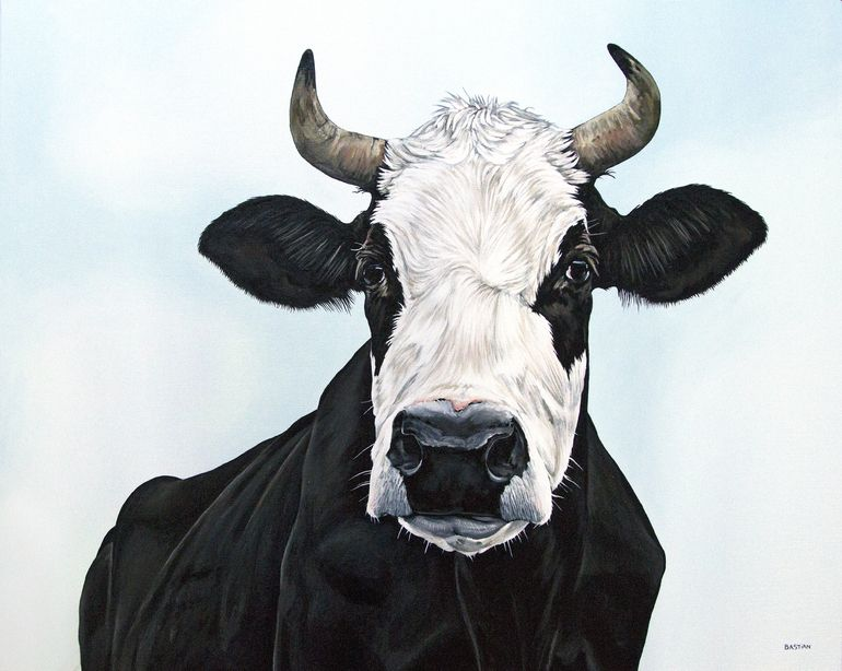 Cow 2805 Art Print Cow Painting Cow Art Animal Art
